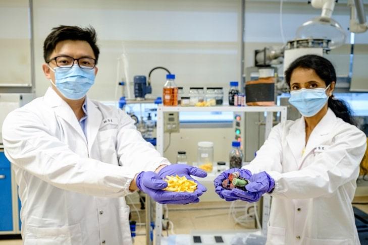 シンガポール南洋理工大学、使用済みリチウムイオン電池を果物の皮でリサイクル。循環過程の無害化へ