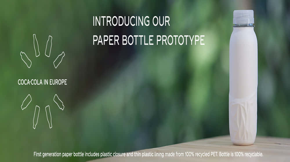 コカ・コーラ、紙製ボトルのプロトタイプを発表。ごみのない世界を目指して