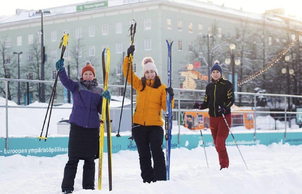 フィンランド・ラハティ市、2021欧州グリーン首都賞を受賞。スキーで市内移動の試験導入開始