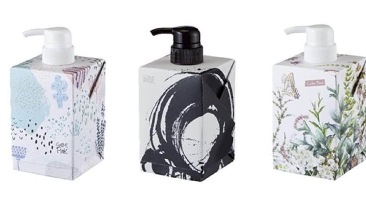 凸版印刷、浴室でも使える紙パックを4月より生産開始。プラスチックボトルと同等の耐水性