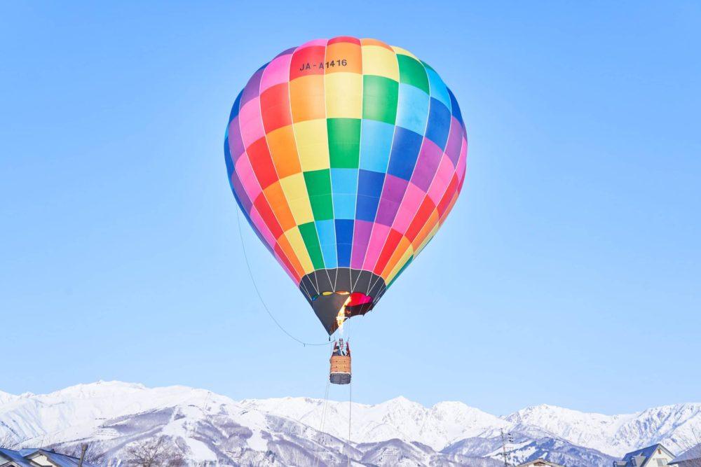 朝日を望む熱気球体験