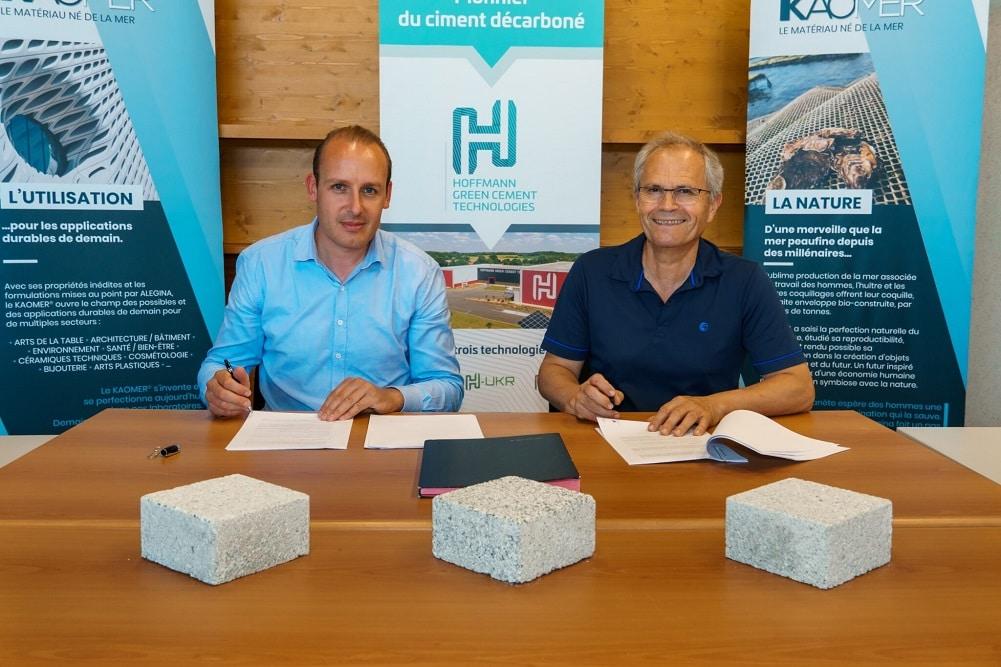 仏2社、排水性舗装と敷石の生産展開で提携。カキの殻を骨材に使用